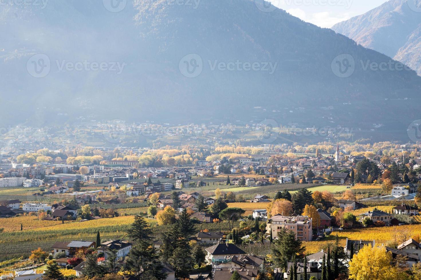 Merano in autumn photo