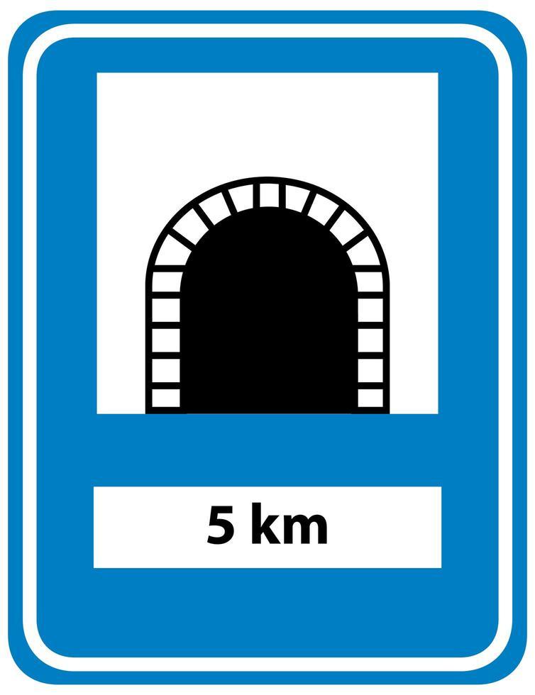 Signo de túnel aislado sobre fondo blanco. vector