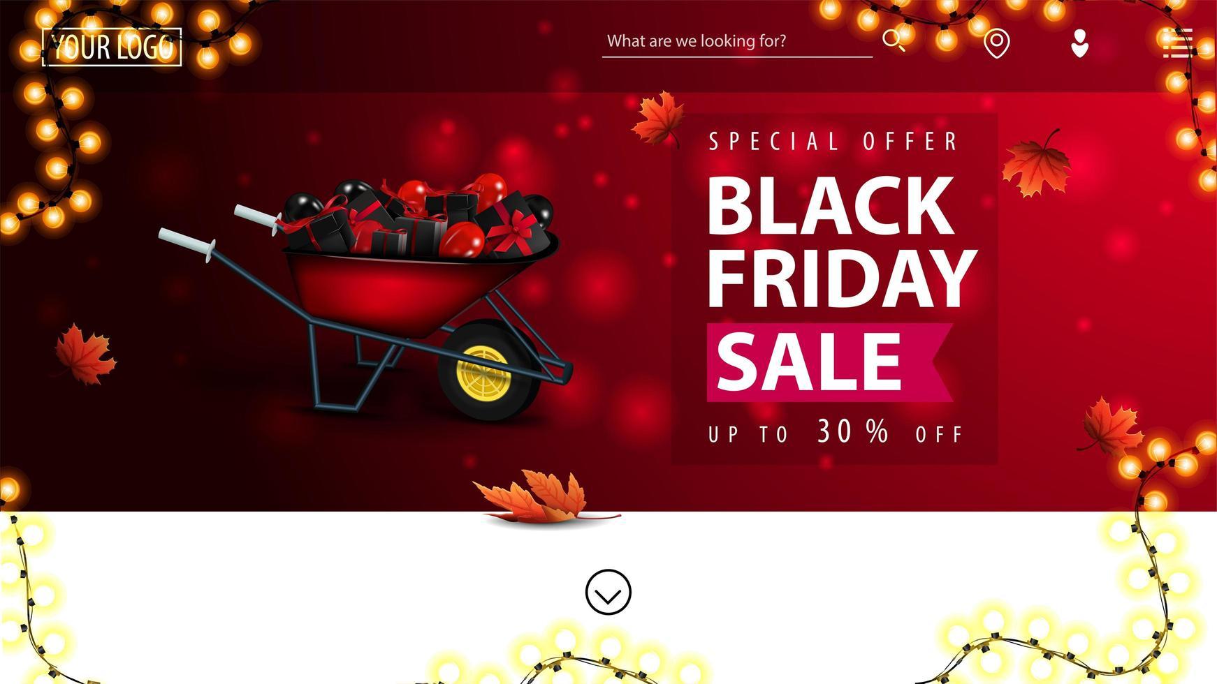 Special offer, Black Friday Sale banner vector