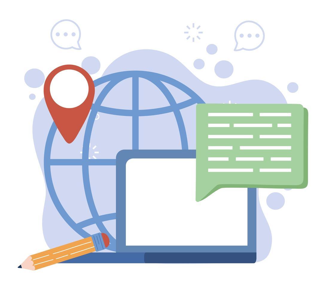 concepto de comunicación global vector