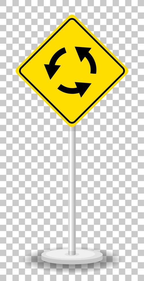 señal de rotonda aislado sobre fondo transparente vector