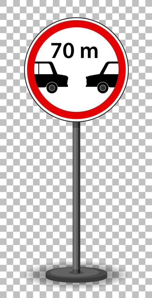 señal de tráfico roja sobre fondo transparente vector