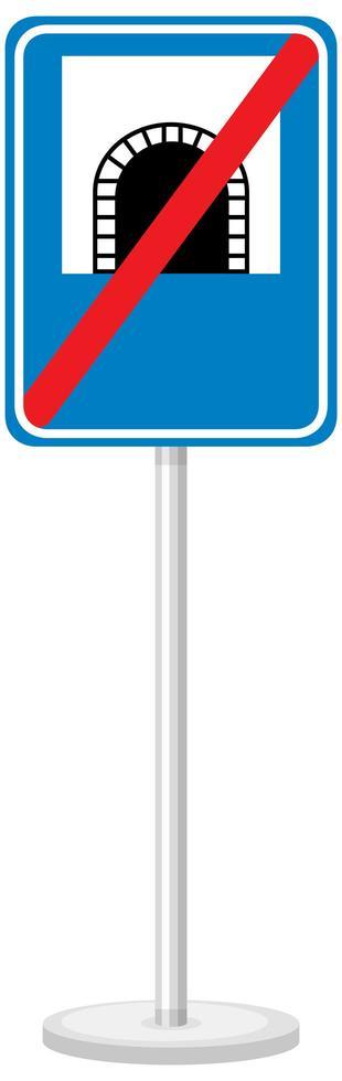Signo de túnel con soporte aislado sobre fondo blanco. vector