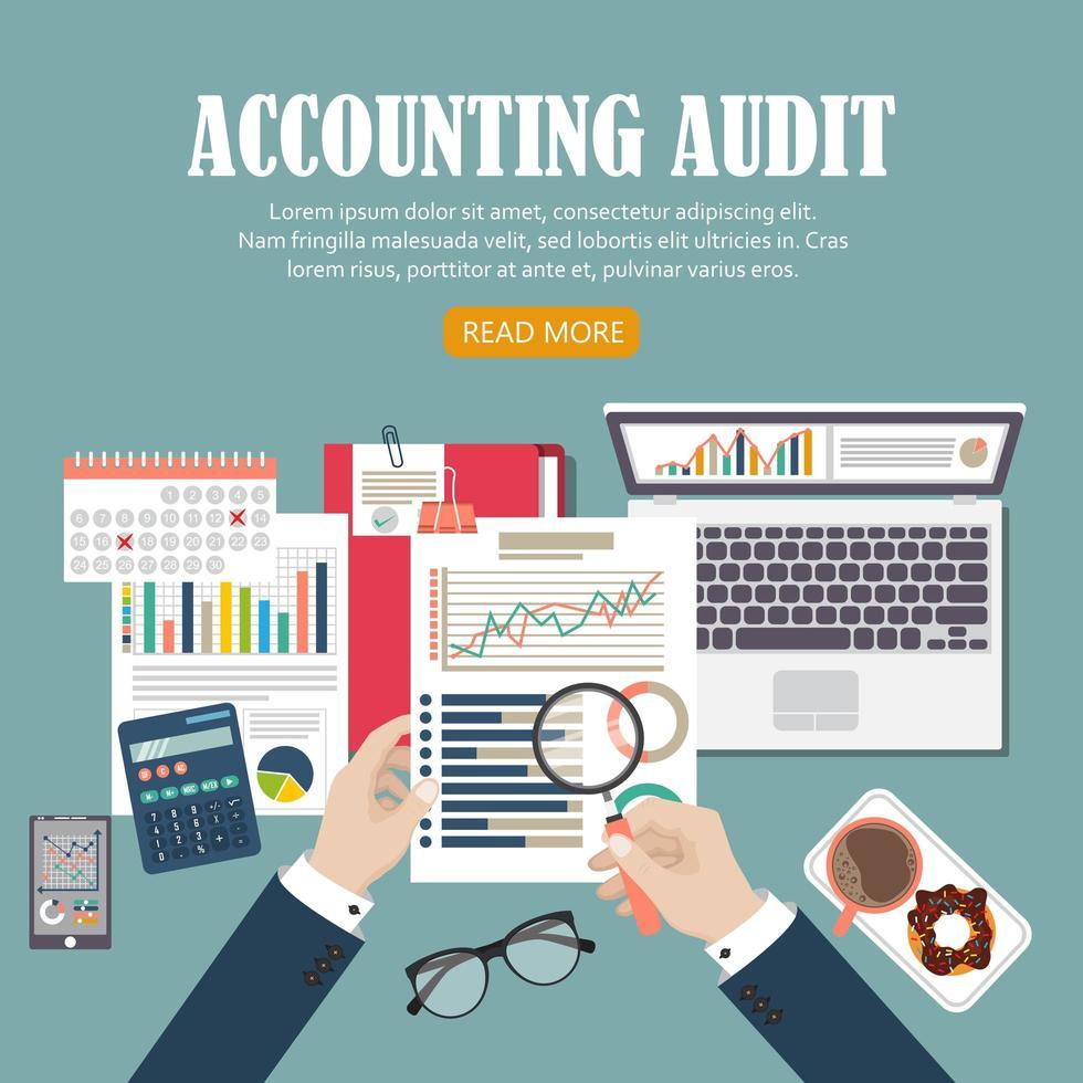 antecedentes de auditoria contable vector
