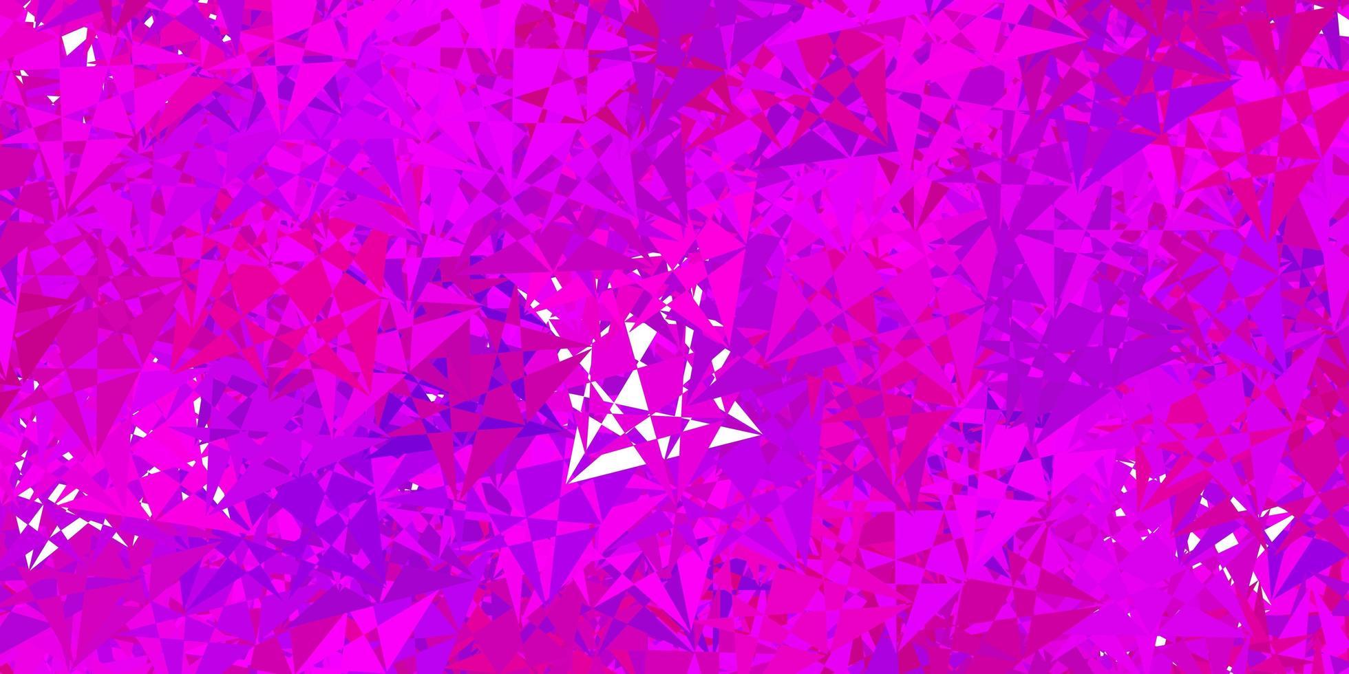 textura púrpura oscuro con triángulos al azar. vector