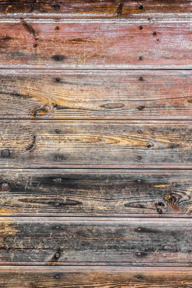 Rustic wooden table photo