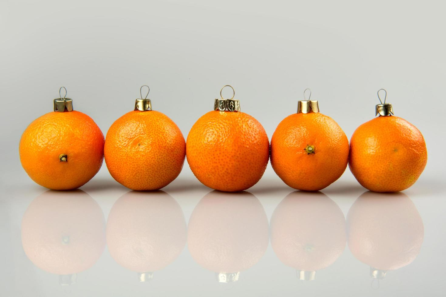 Baubles made of tangerines photo