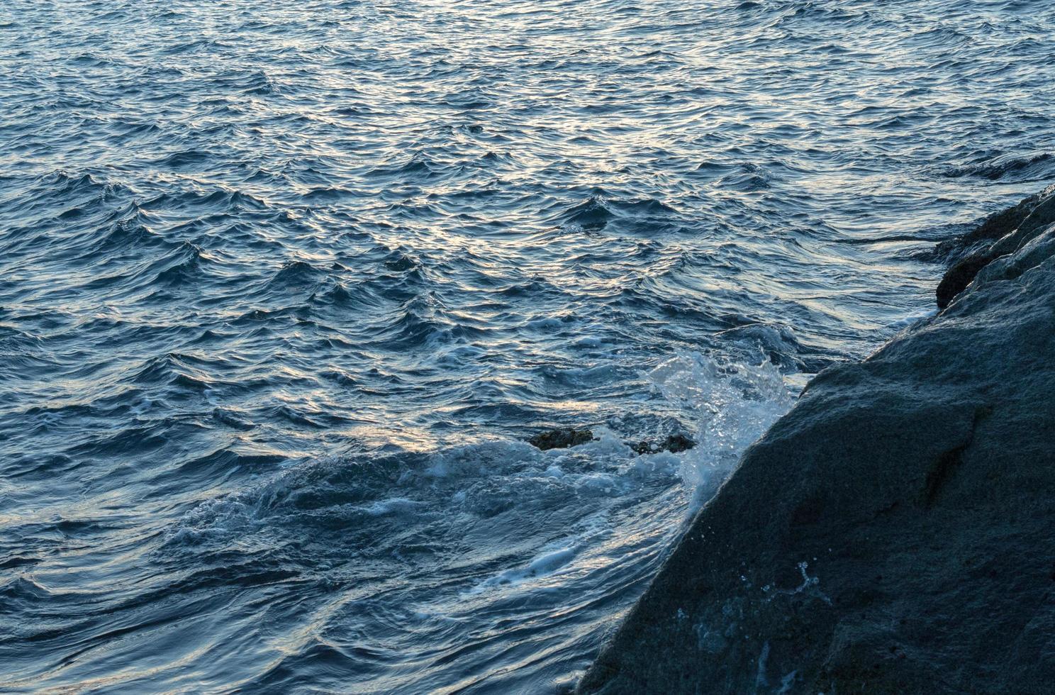olas oceánicas azules foto