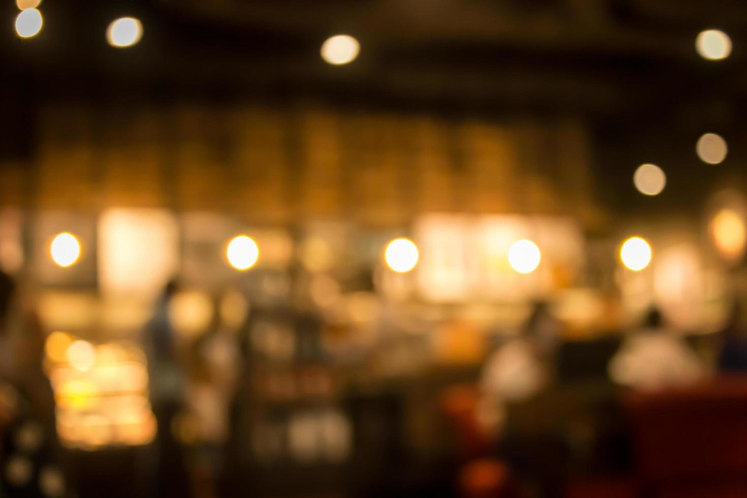 Blurred cafe background photo