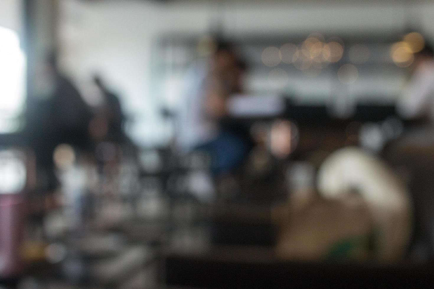 Blurred restaurant background photo