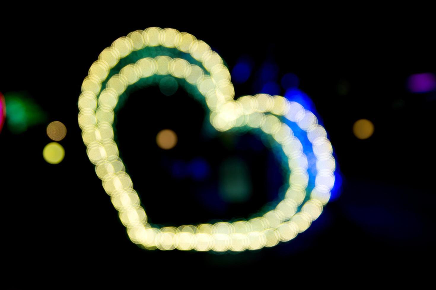 luces desenfocadas iluminadas foto