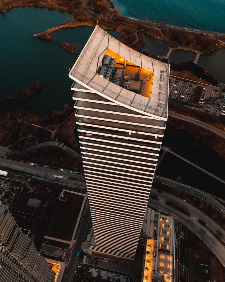 Vista aérea de un rascacielos en Toronto, Canadá foto