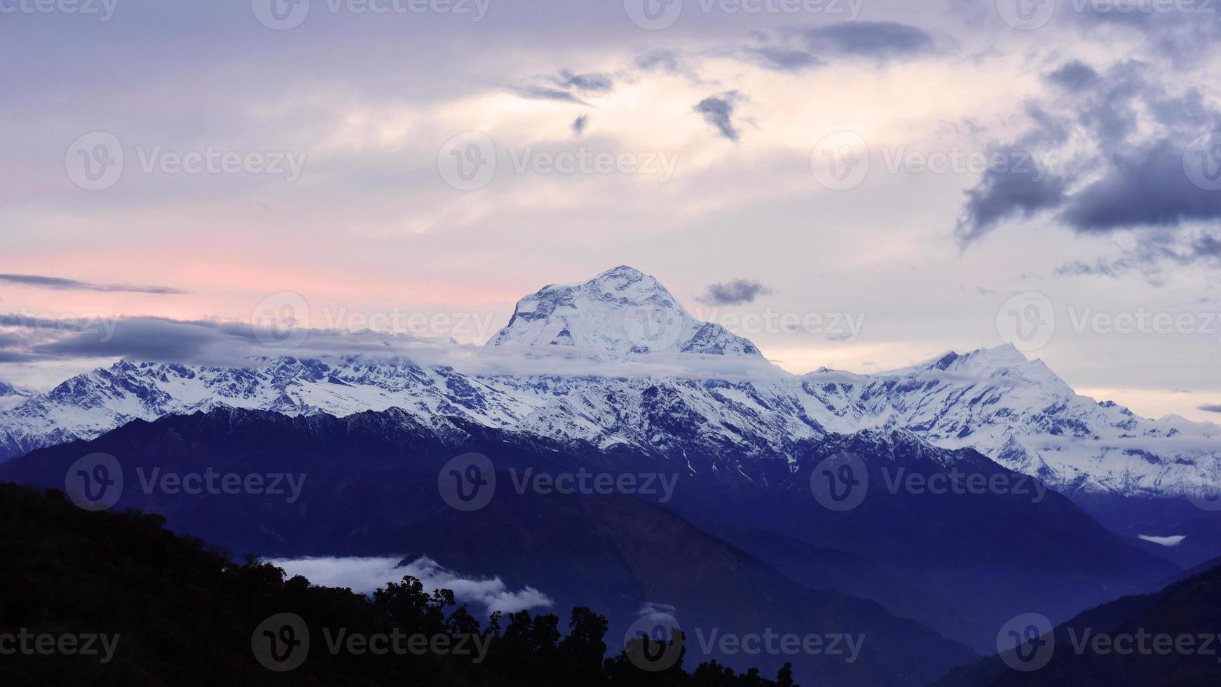 Vista de la cordillera de Annapurna, Nepal foto