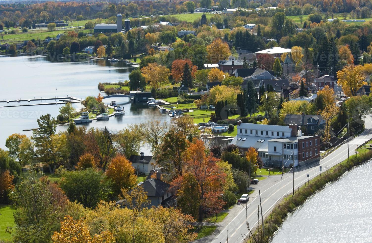 ciudad de westport en otoño serie foto