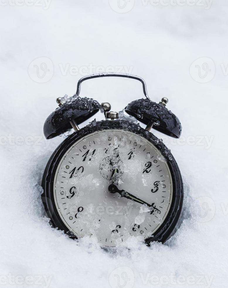 Frozen clock photo