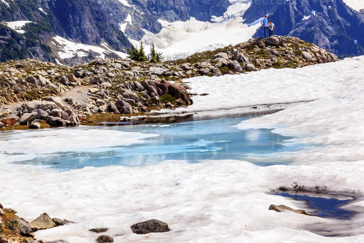Mount Shuksan piscina de nieve azul Artist Point Washington, EE. foto