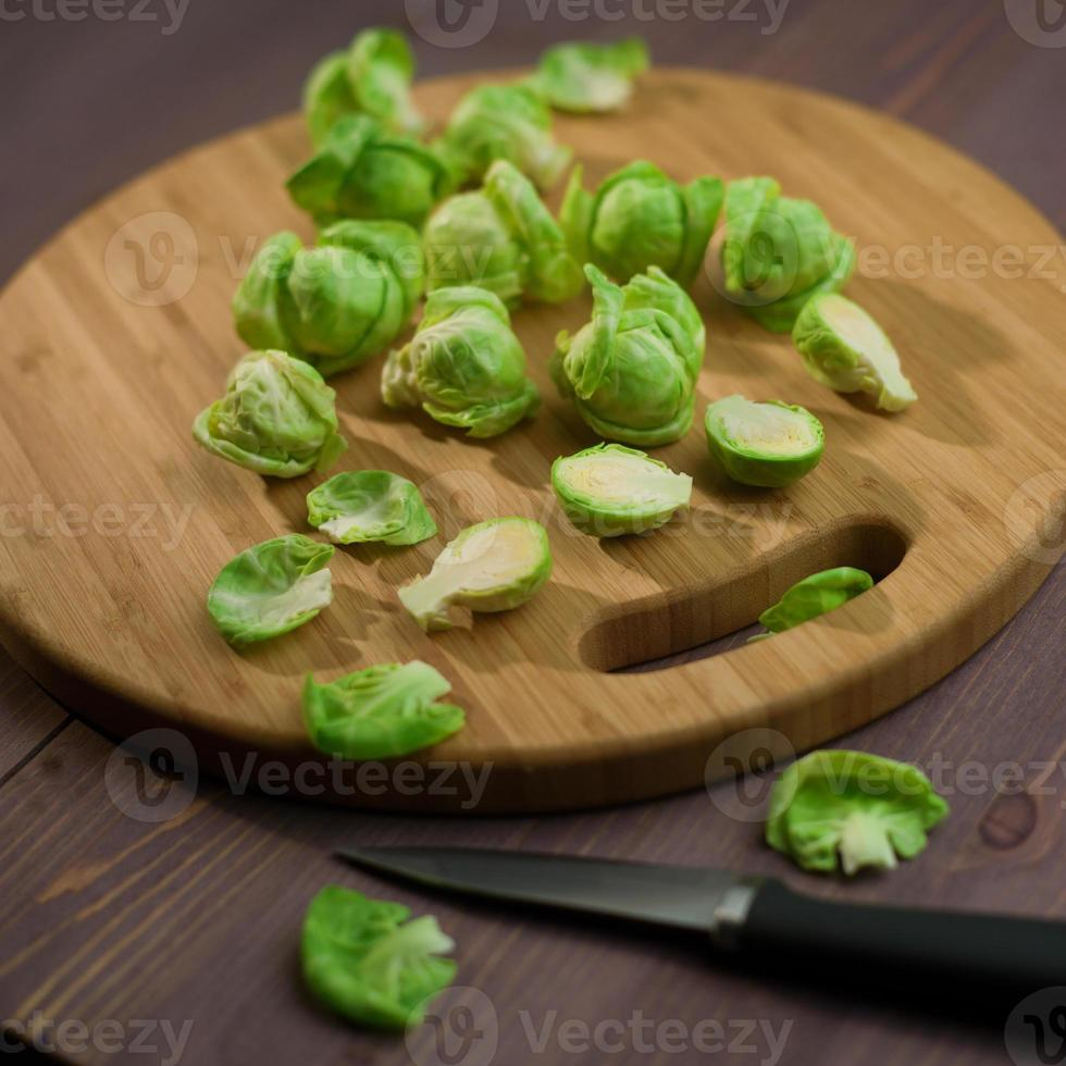 composición de coles de Bruselas foto