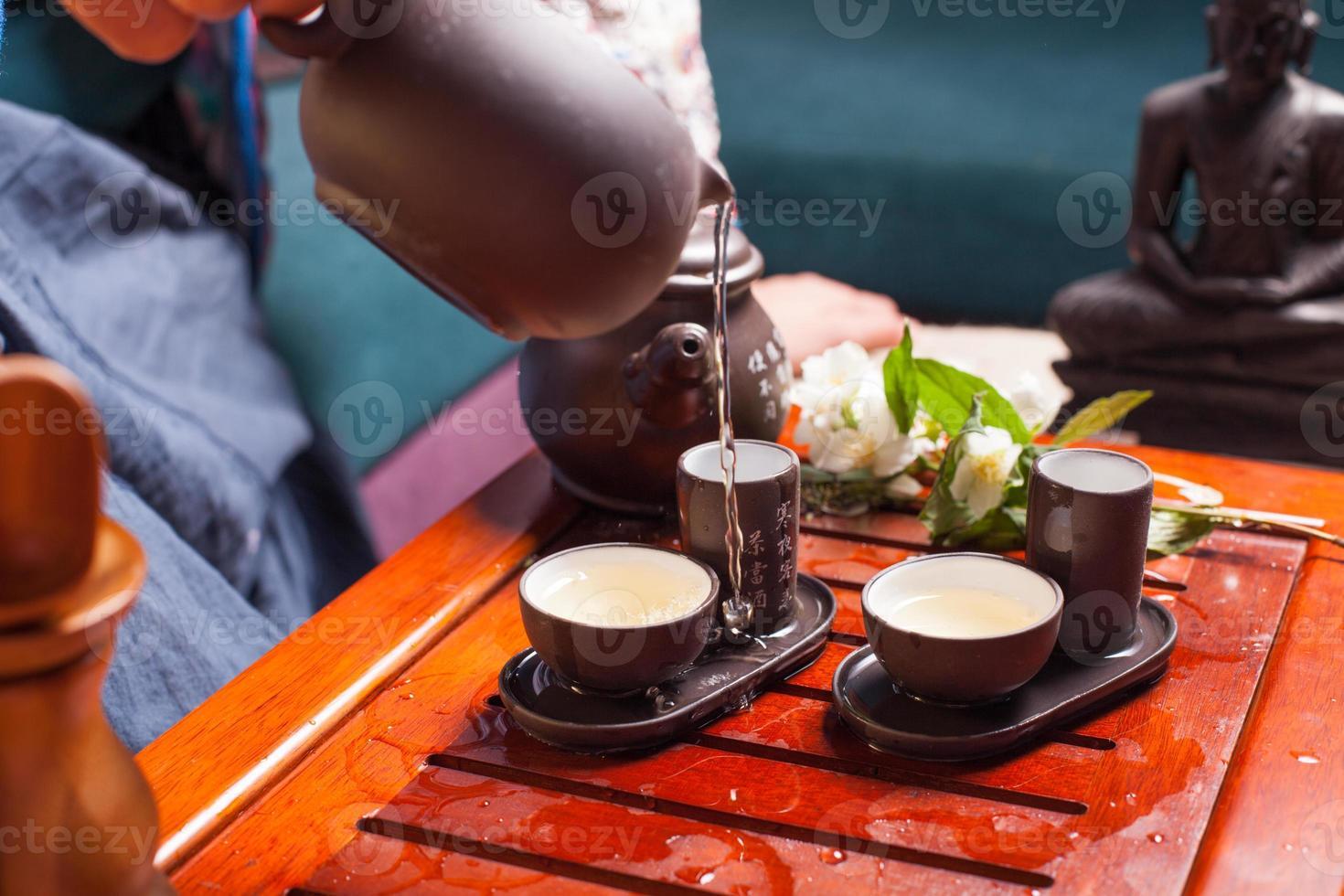 ceremonia del té chino foto