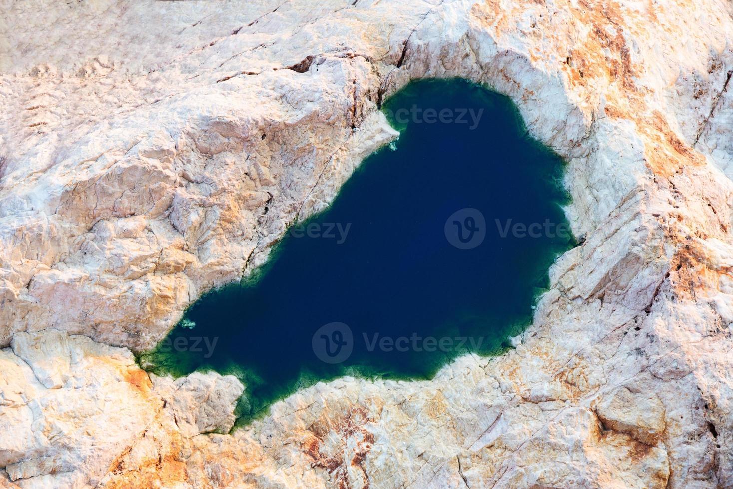 lago en zona rocosa foto