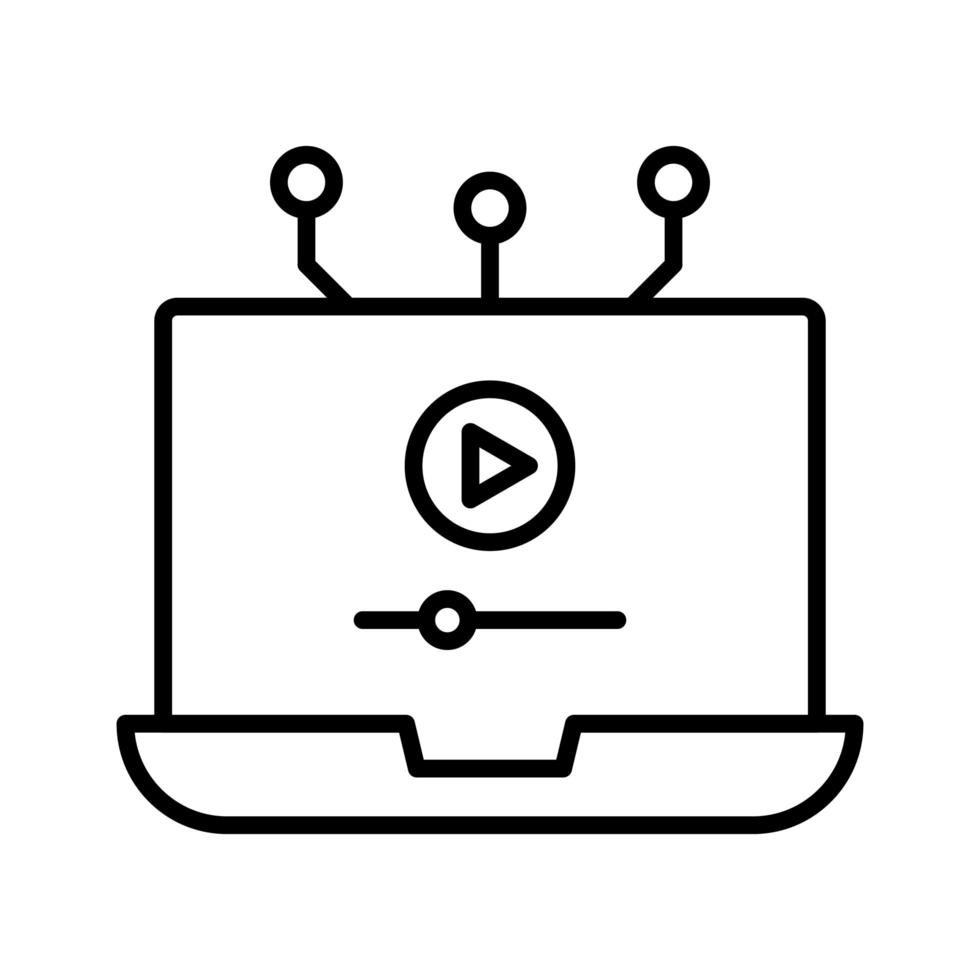 Video lecture icon vector