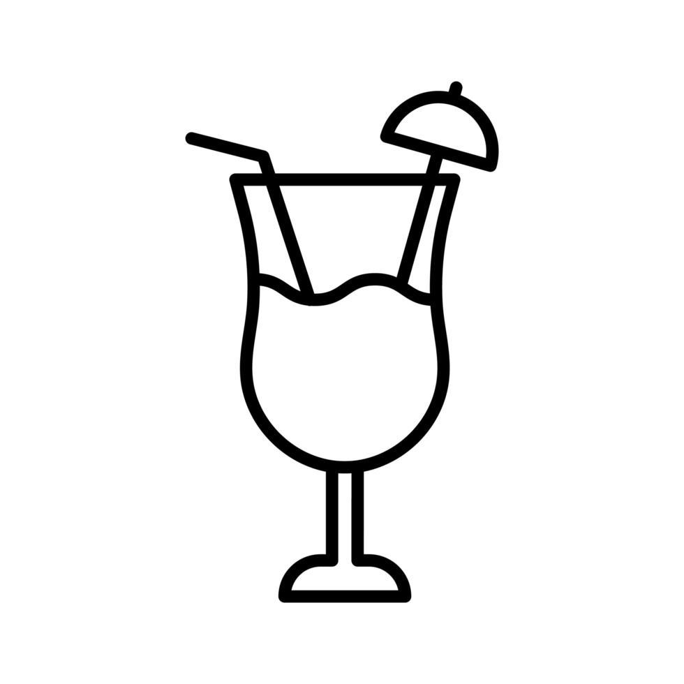 icono de vector de coctel