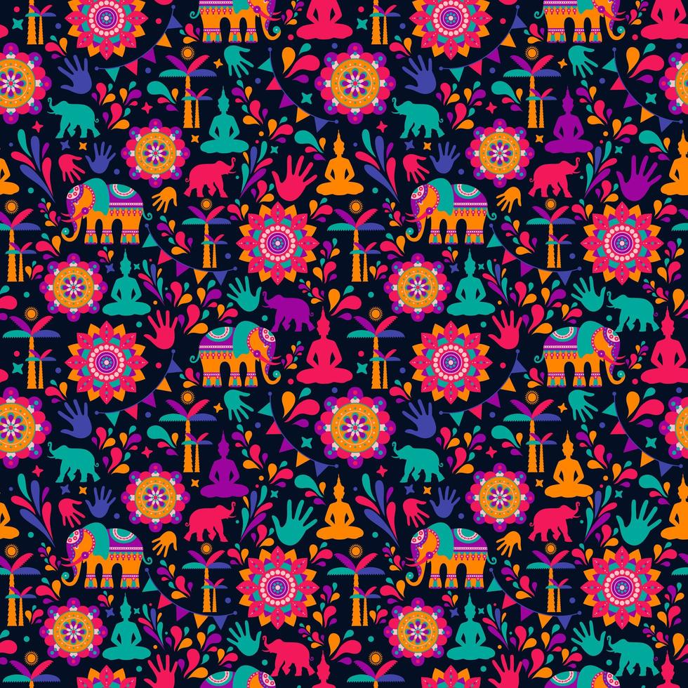 Happy holi festival, colorful elements vector