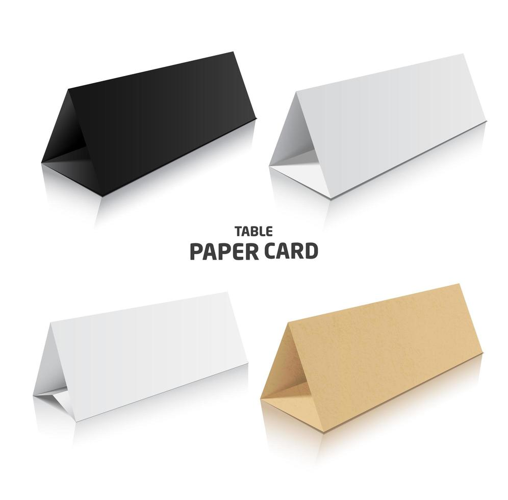 Blank trifold paper brochure mockups vector