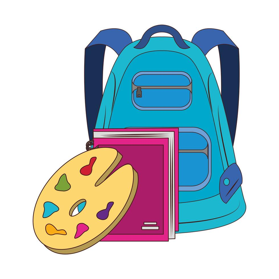 Cartoon back to school and education composition vector