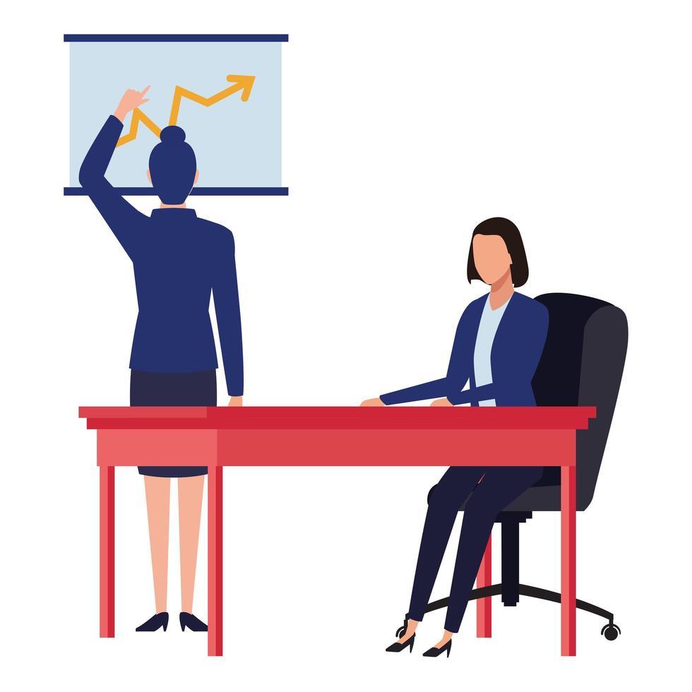 Businesswomen cartoon character vector
