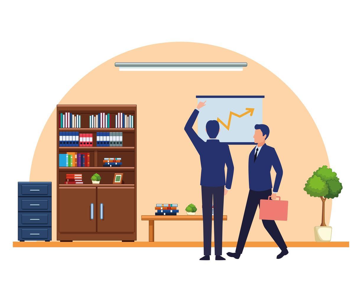 personaje de dibujos animados de avatares de personas de negocios vector