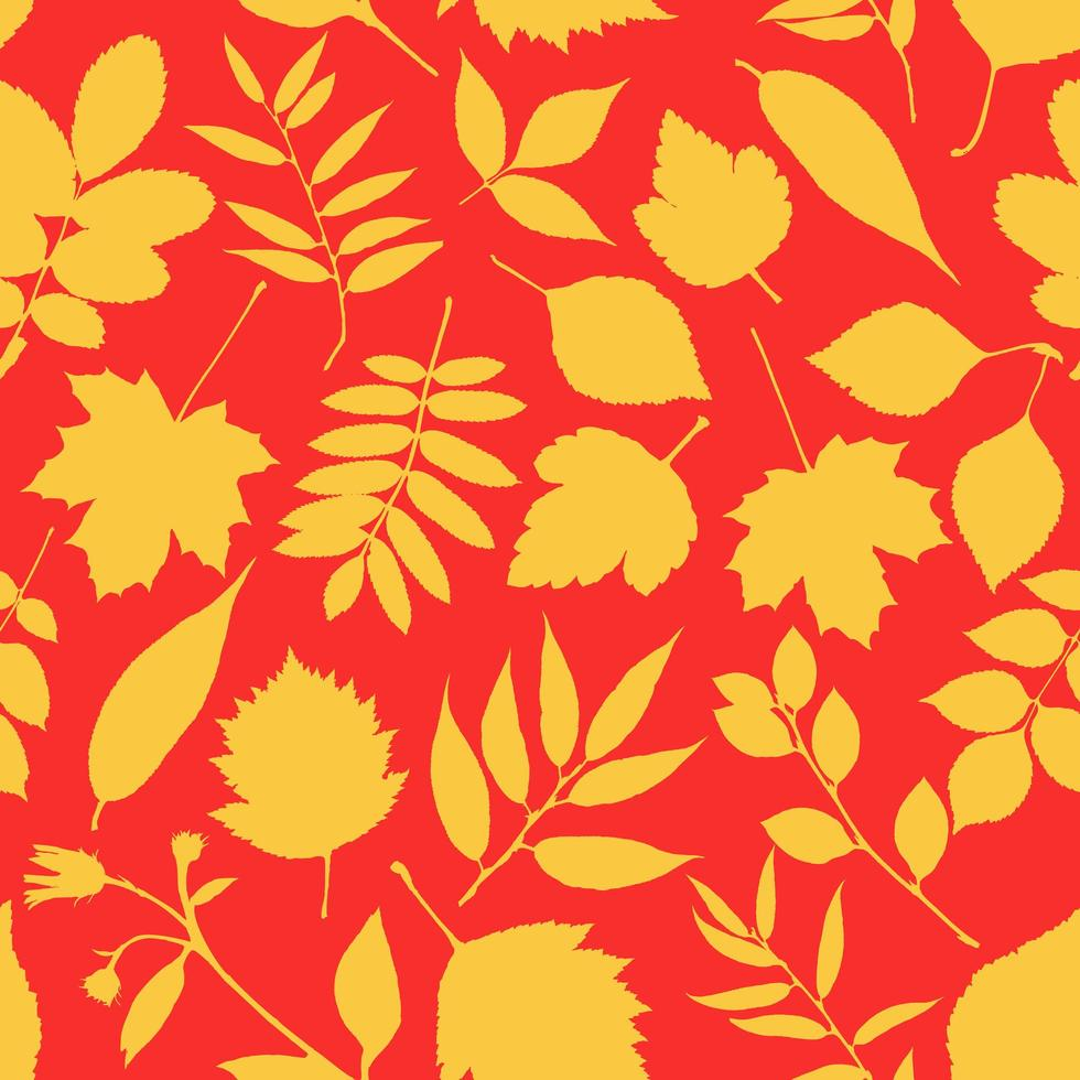 hermoso patrón de hojas de otoño vector