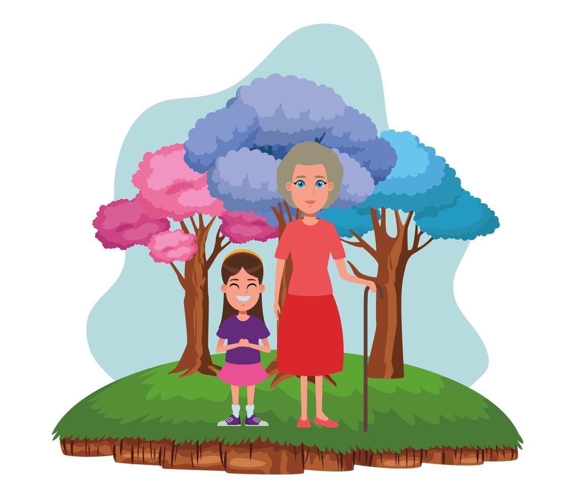 Family avatar cartoon character portrait vector