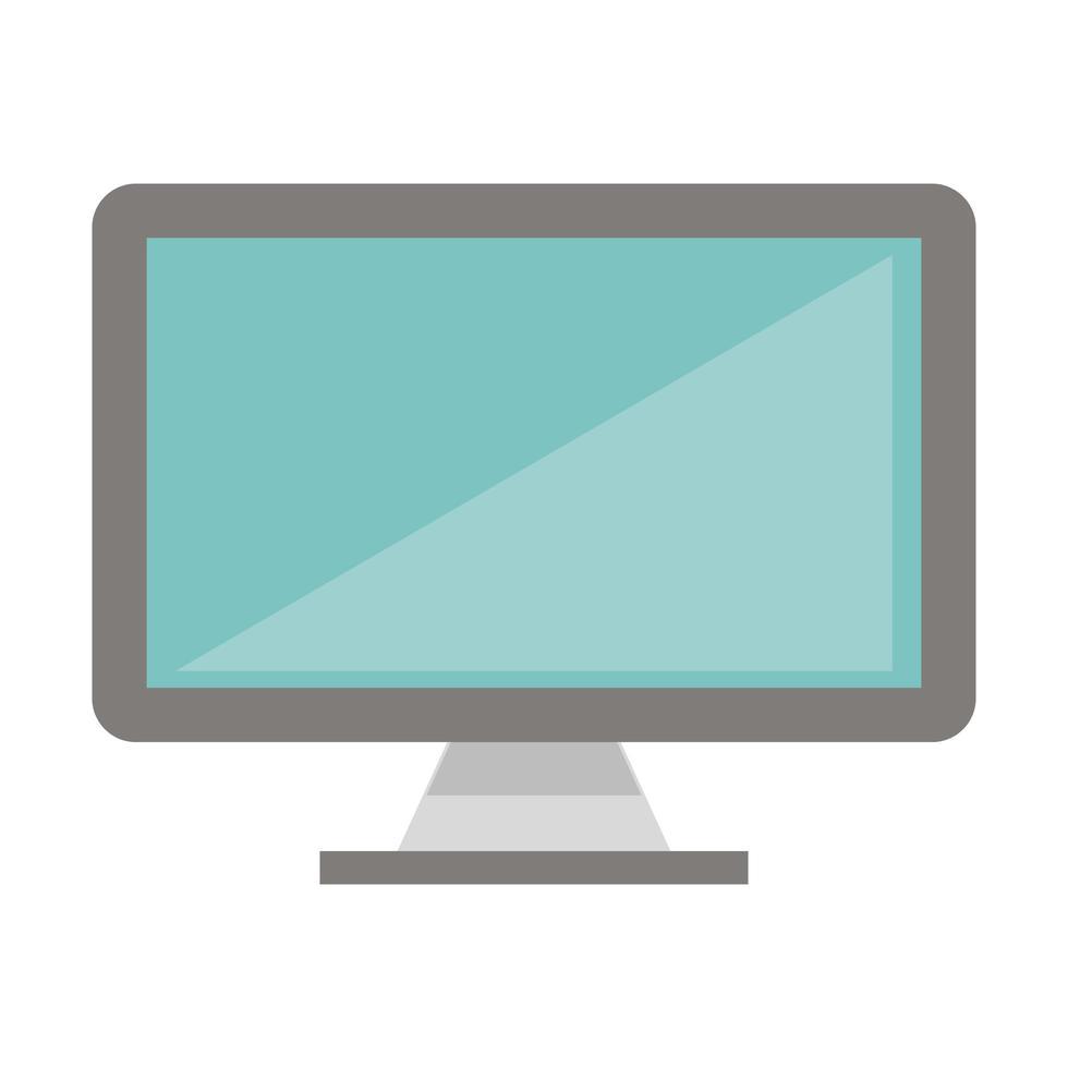 icono de tecnología de monitor de computadora vector