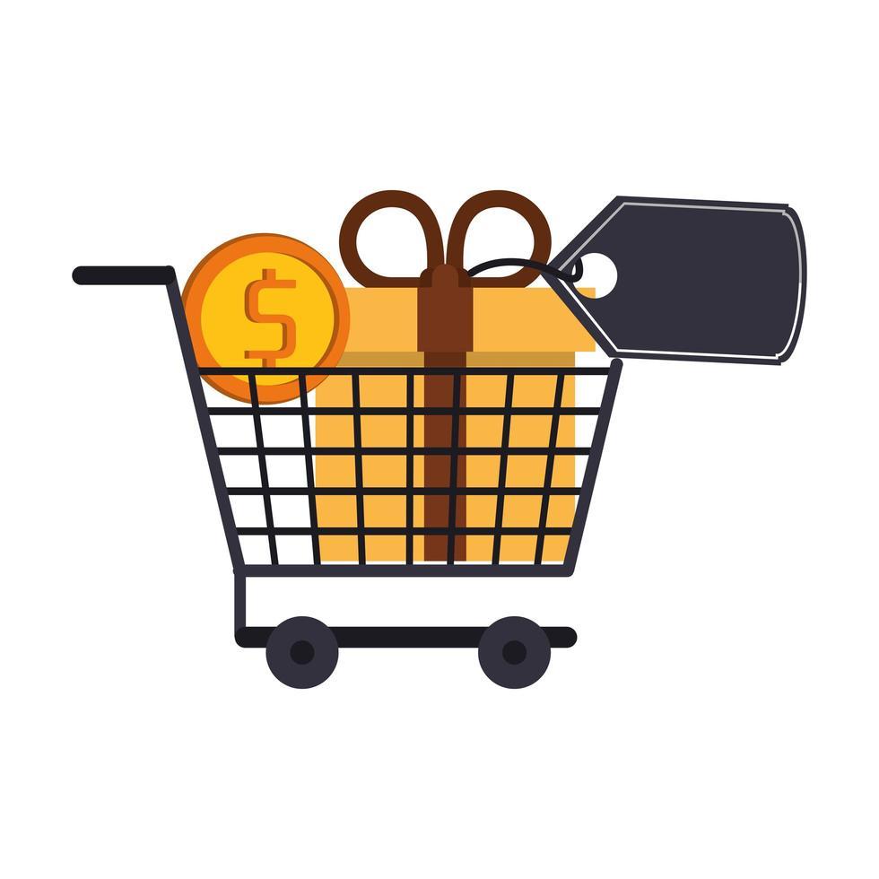 composición de marketing y ventas de compras vector