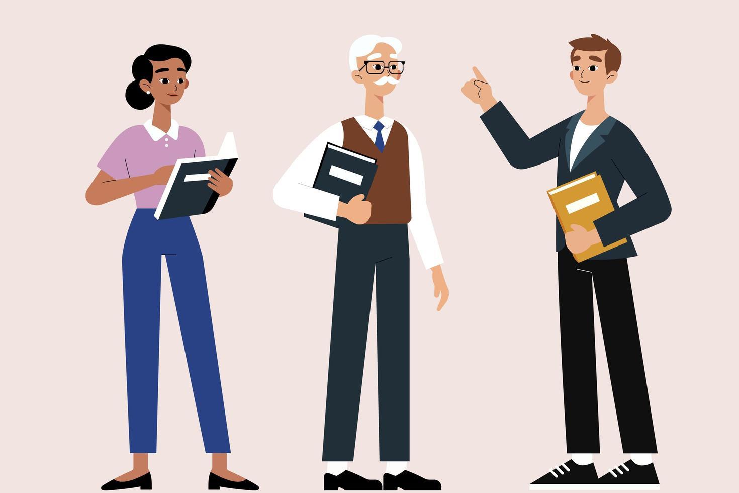 conjunto de personajes de dibujos animados del día internacional del estudiante vector