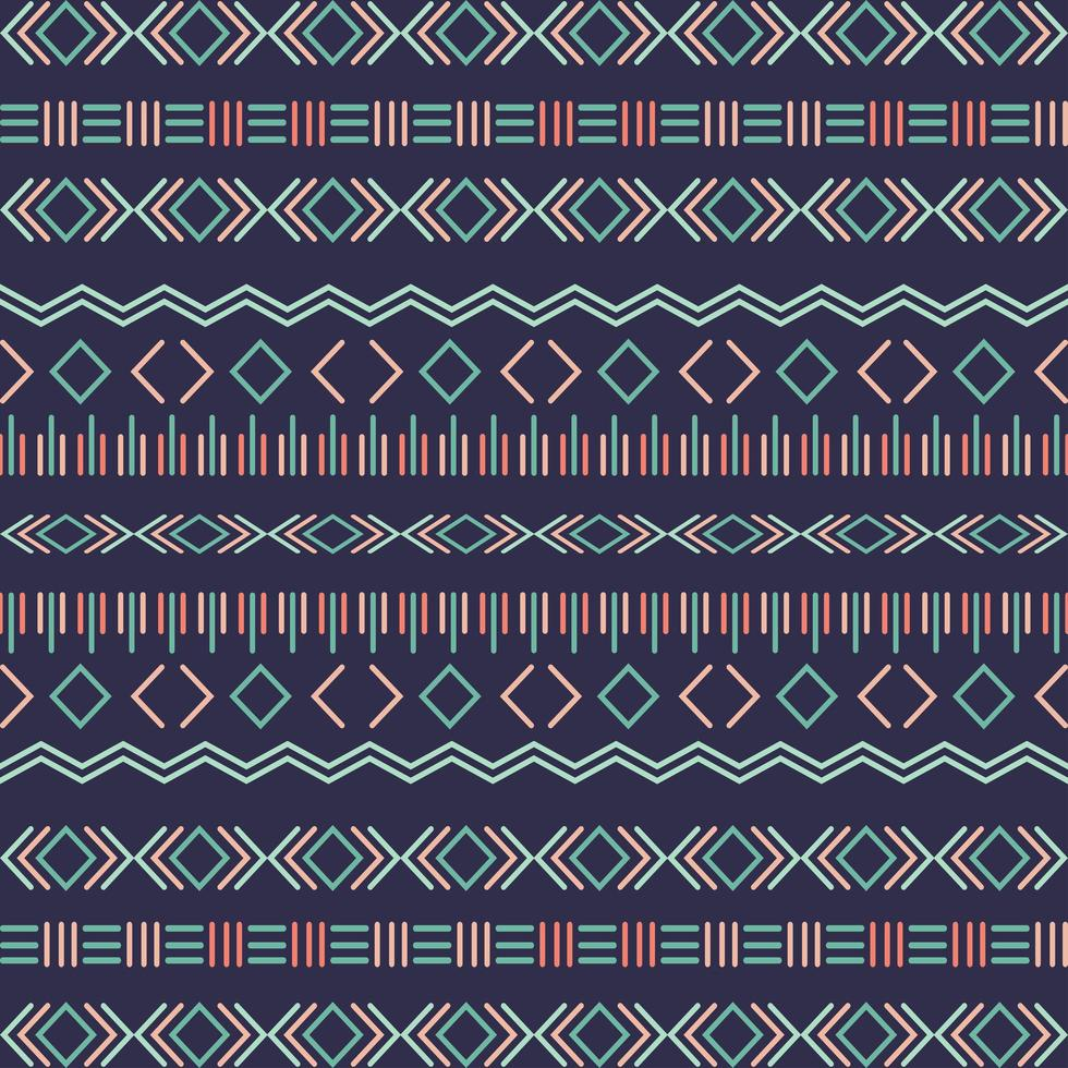 Aztec tribal seamless pattern with geometric elements vector