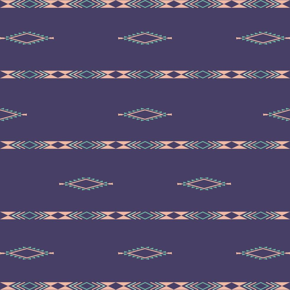 Aztec ethnic tribal seamless pattern with geometric shapes vector