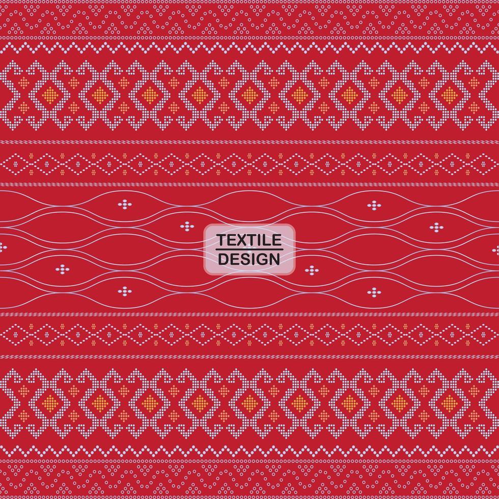 Red seamless geometric motif ulos batak pattern vector