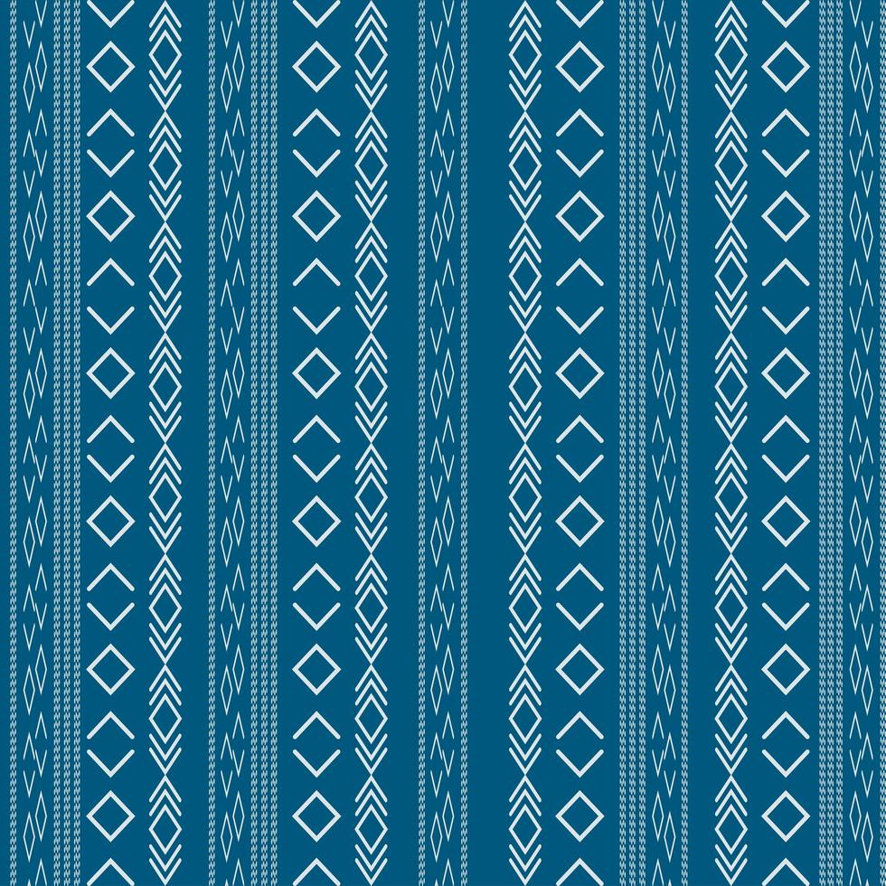 Aztec tribal pattern with geometric shapes vector