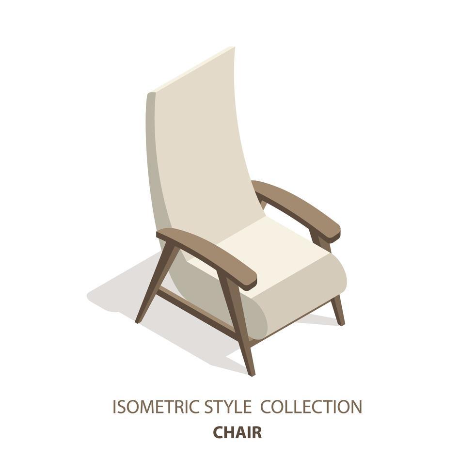 sillón 3d de estilo isométrico vector