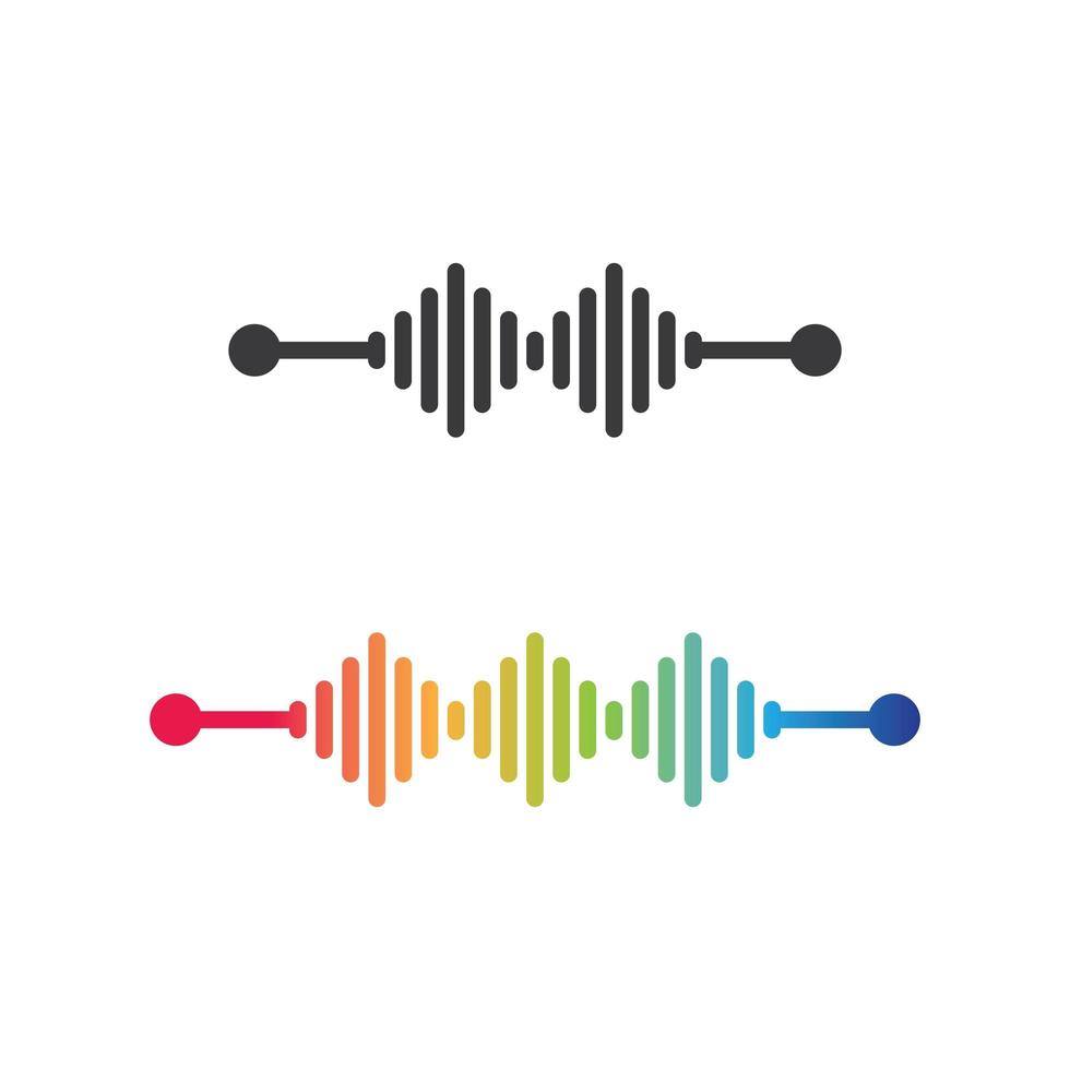 diseño de ondas de sonido vector