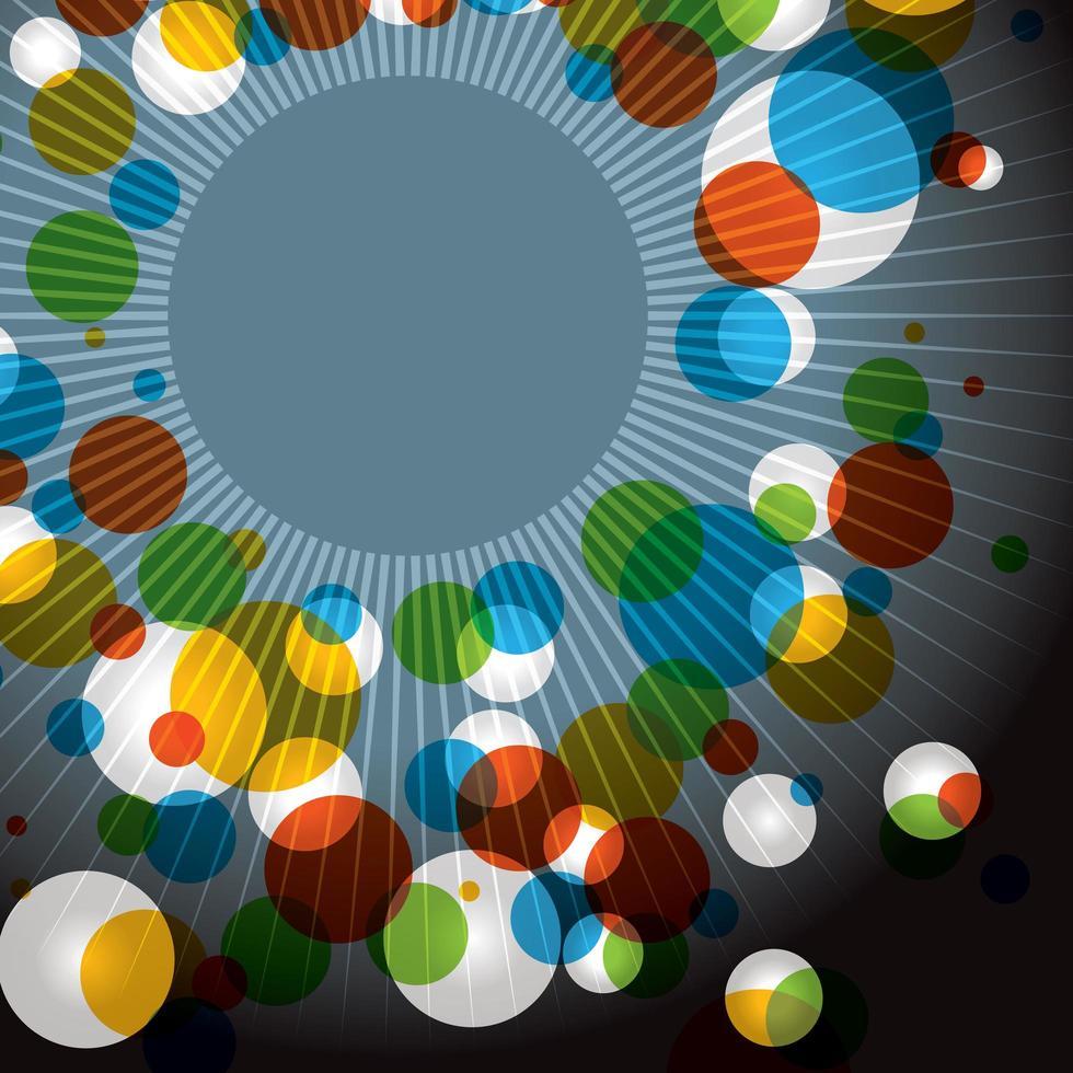 fondo de explosión de color abstracto vector