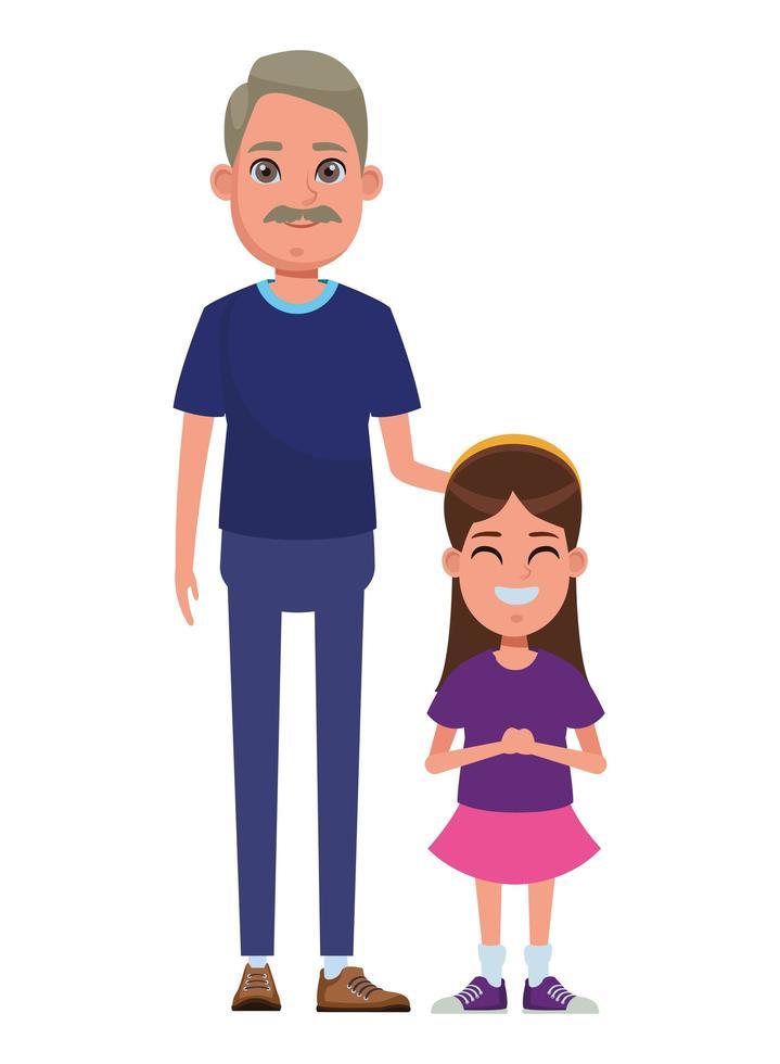 personajes familiares de dibujos animados vector