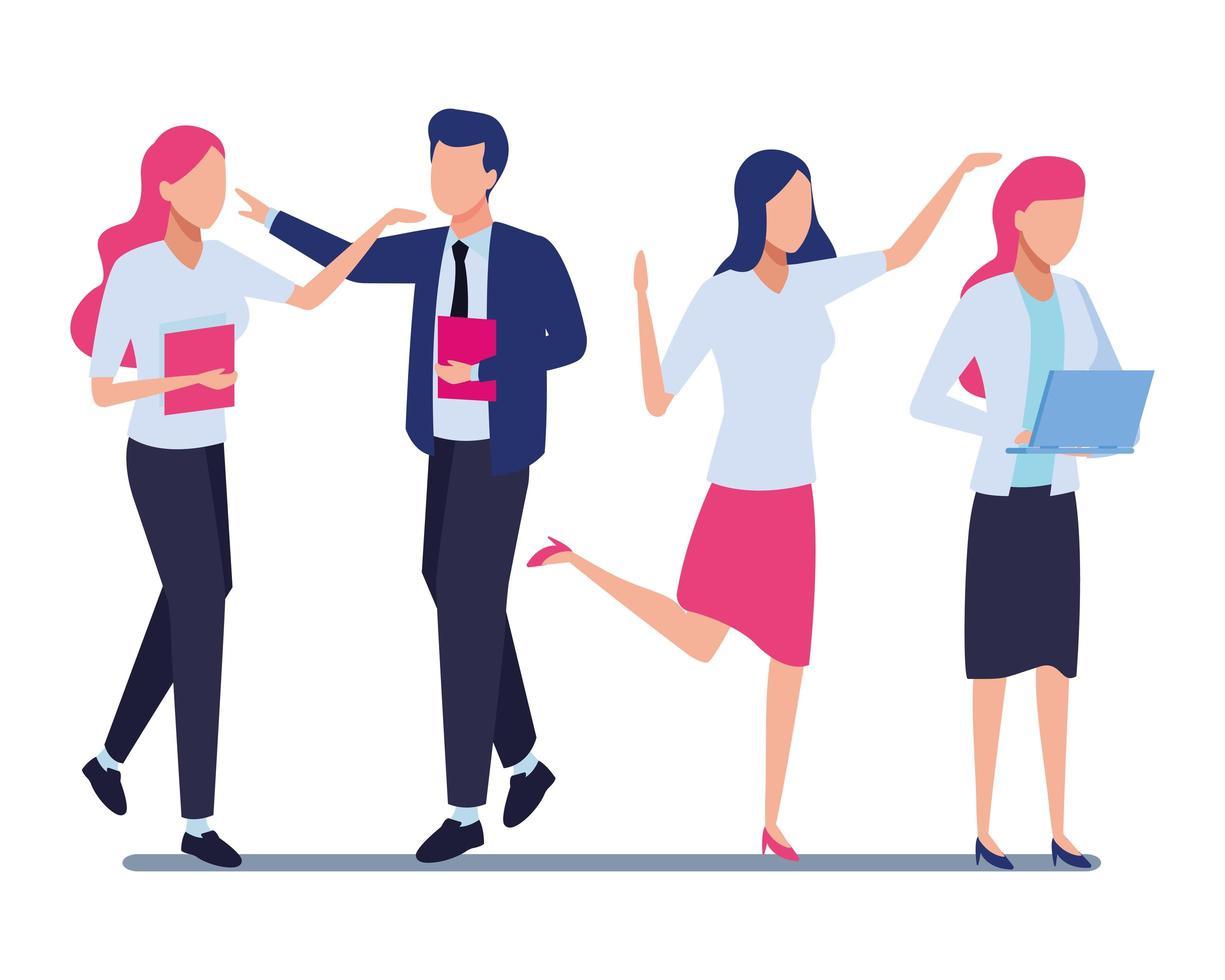 empresarios y concepto de coworking vector
