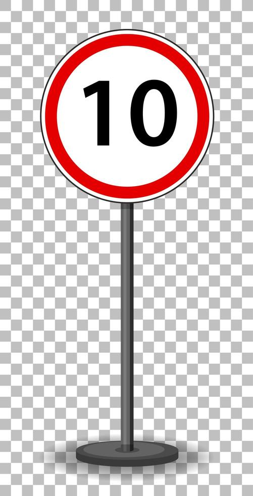 Red traffic sign on transparent background vector