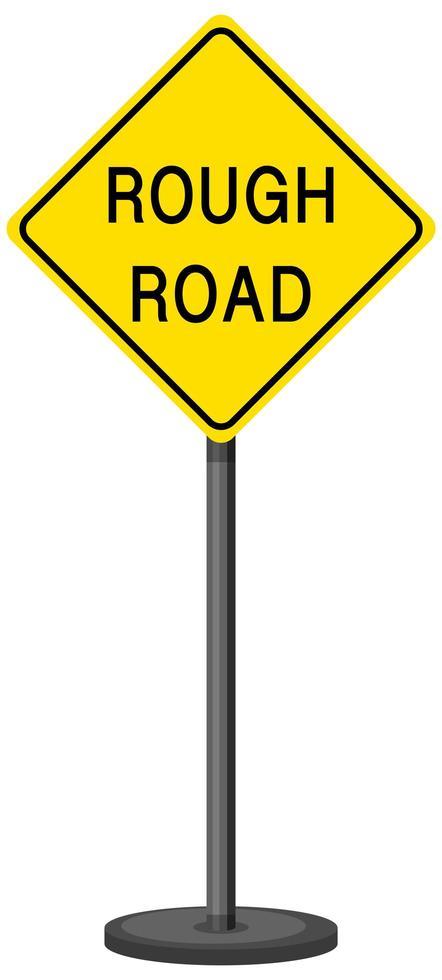 Señal de advertencia de tráfico amarillo sobre fondo blanco. vector