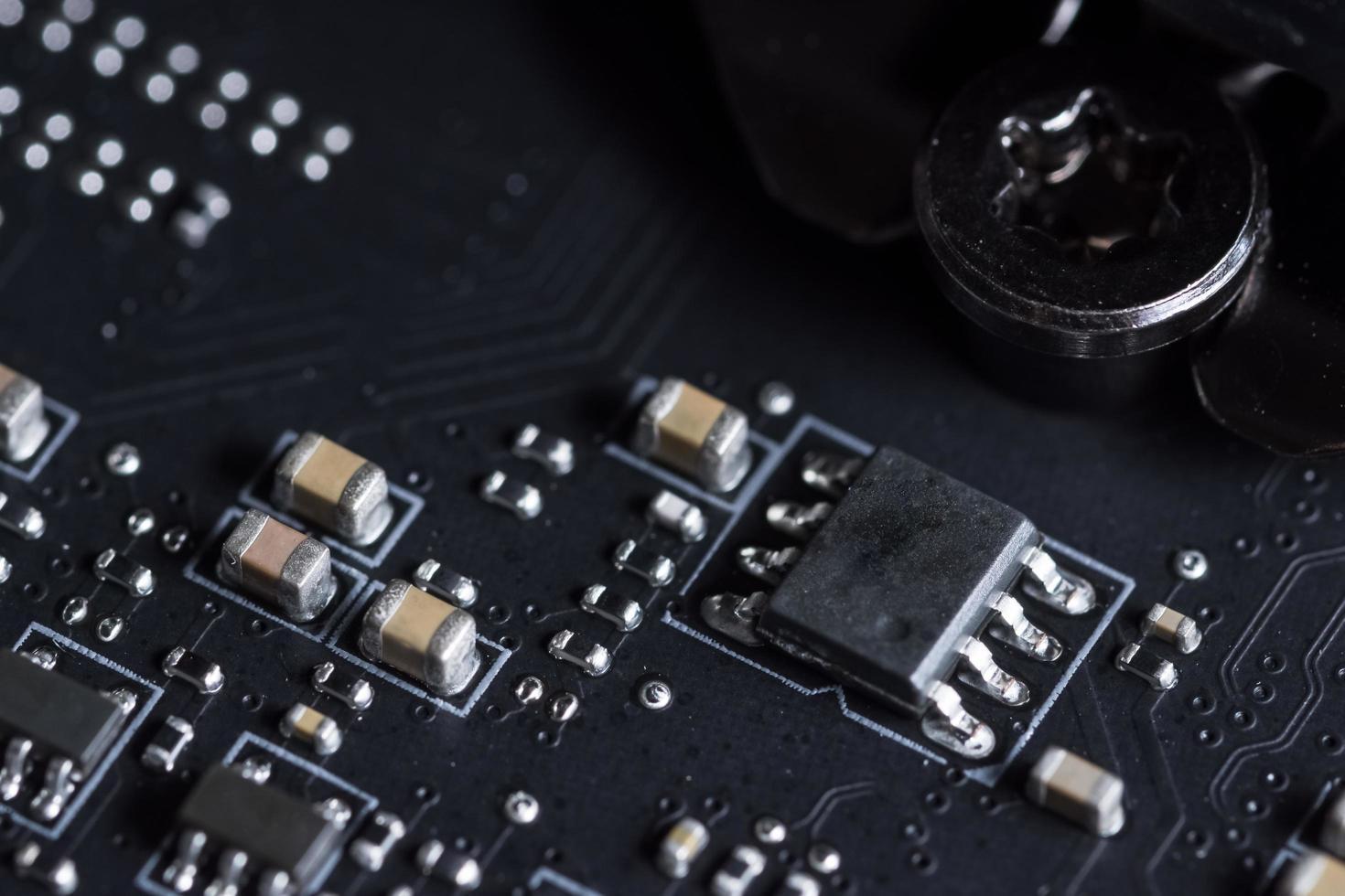 placa de circuito electrónico, primer plano foto
