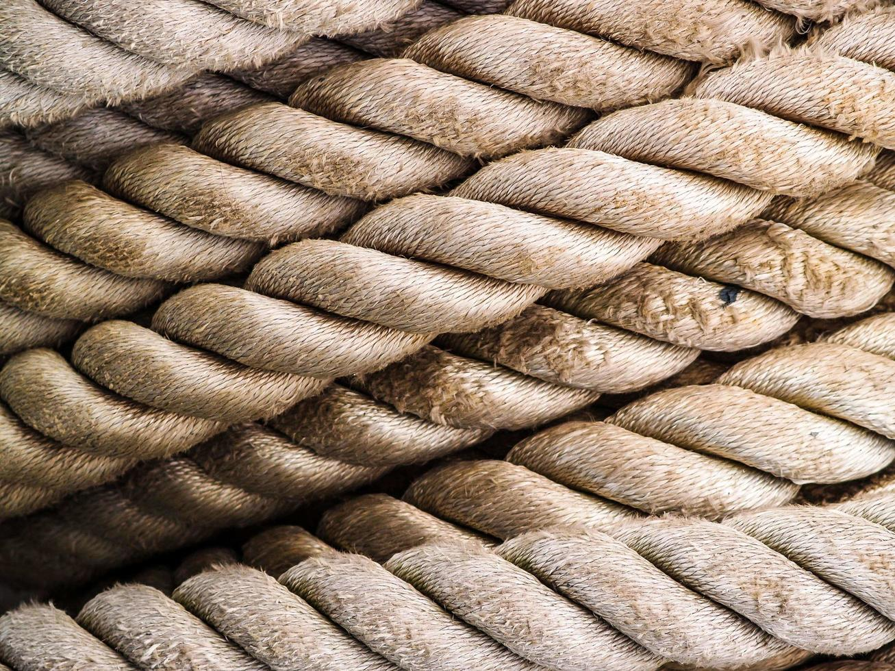 Light brown textured rope photo