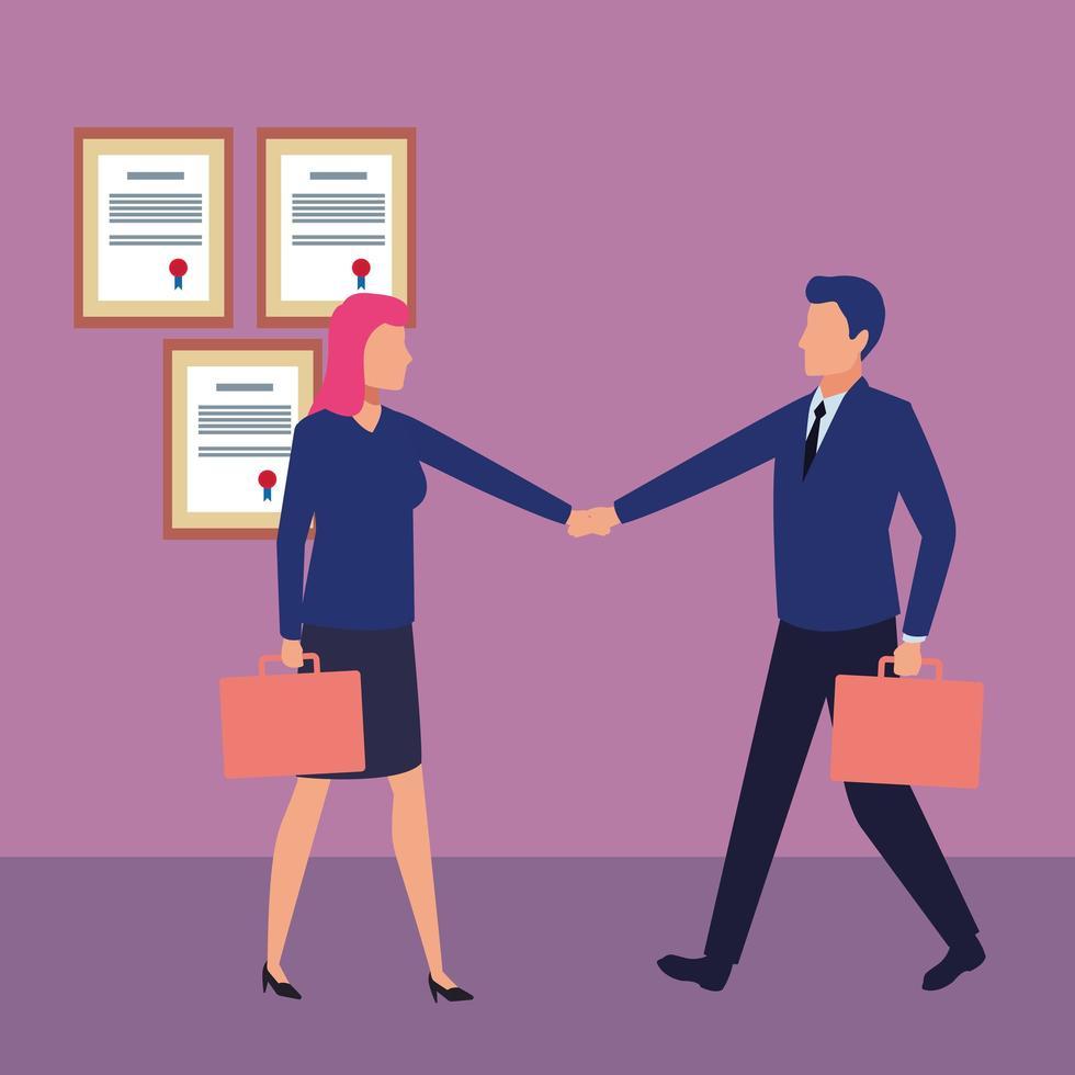 gente de negocios trabajando juntos vector