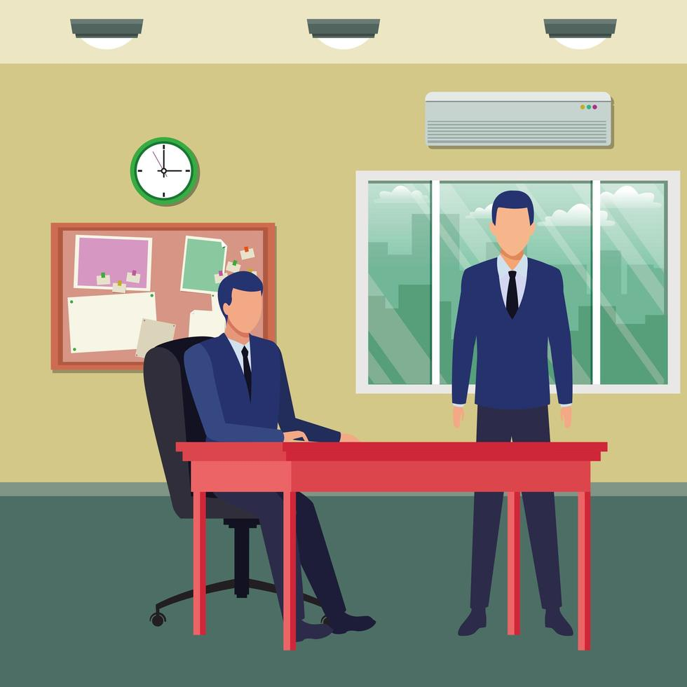 Business people working together vector